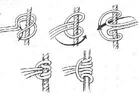 Illustration of a prussik knot